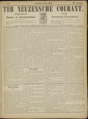 Ter Neuzensche Courant. Algemeen Nieuws- en Advertentieblad voor Zeeuwsch-Vlaanderen / Neuzensche Courant ... (idem) / (Algemeen) nieuws en advertentieblad voor Zeeuwsch-Vlaanderen 1886-06-05