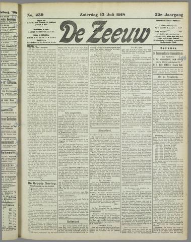De Zeeuw. Christelijk-historisch nieuwsblad voor Zeeland 1918-07-13
