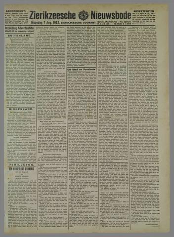 Zierikzeesche Nieuwsbode 1933-08-07