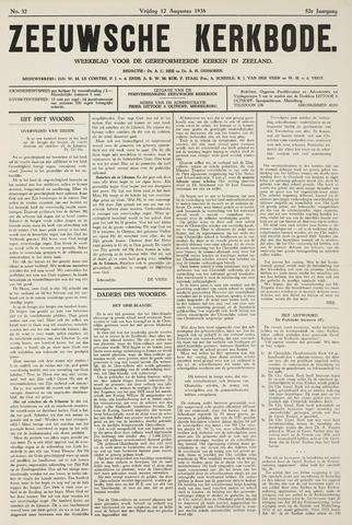 Zeeuwsche kerkbode, weekblad gewijd aan de belangen der gereformeerde kerken/ Zeeuwsch kerkblad 1938-08-12
