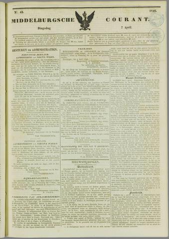 Middelburgsche Courant 1846-04-07