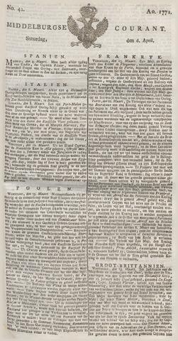 Middelburgsche Courant 1771-04-06