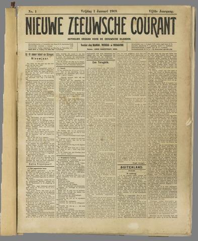 Nieuwe Zeeuwsche Courant 1909