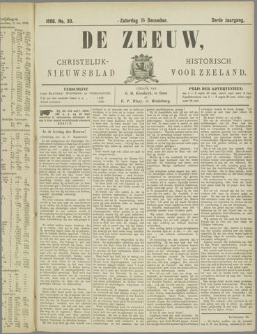 De Zeeuw. Christelijk-historisch nieuwsblad voor Zeeland 1888-12-15