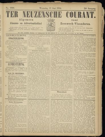 Ter Neuzensche Courant. Algemeen Nieuws- en Advertentieblad voor Zeeuwsch-Vlaanderen / Neuzensche Courant ... (idem) / (Algemeen) nieuws en advertentieblad voor Zeeuwsch-Vlaanderen 1884-06-11