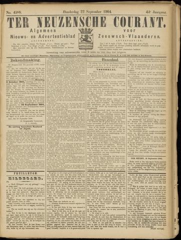Ter Neuzensche Courant. Algemeen Nieuws- en Advertentieblad voor Zeeuwsch-Vlaanderen / Neuzensche Courant ... (idem) / (Algemeen) nieuws en advertentieblad voor Zeeuwsch-Vlaanderen 1904-09-22