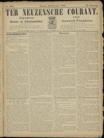 Ter Neuzensche Courant. Algemeen Nieuws- en Advertentieblad voor Zeeuwsch-Vlaanderen / Neuzensche Courant ... (idem) / (Algemeen) nieuws en advertentieblad voor Zeeuwsch-Vlaanderen 1884-12-20