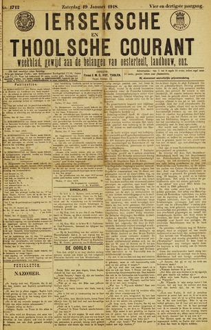 Ierseksche en Thoolsche Courant 1918-01-19