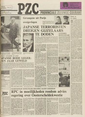 Provinciale Zeeuwse Courant 1974-09-14