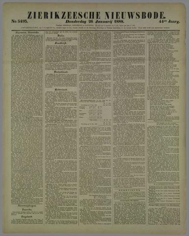Zierikzeesche Nieuwsbode 1888-01-26