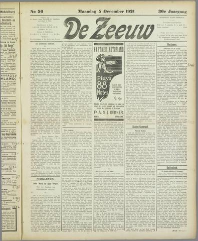 De Zeeuw. Christelijk-historisch nieuwsblad voor Zeeland 1921-12-05