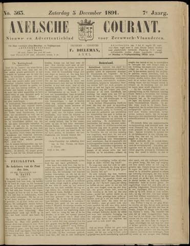 Axelsche Courant 1891-12-05