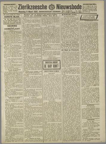 Zierikzeesche Nieuwsbode 1925-03-09