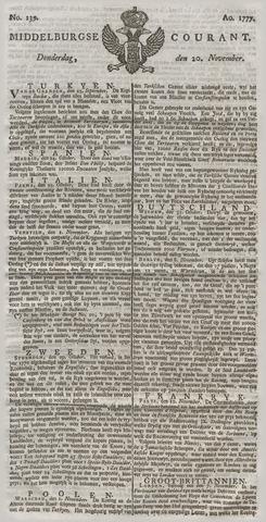 Middelburgsche Courant 1777-11-20