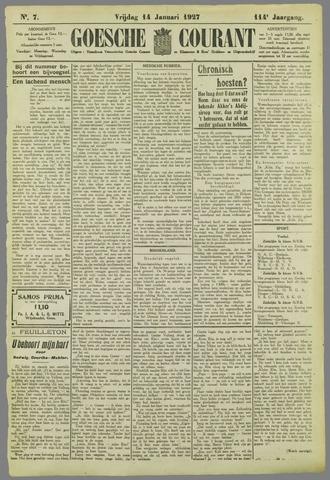 Goessche Courant 1927-01-14
