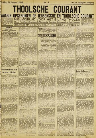Ierseksche en Thoolsche Courant 1936-01-24