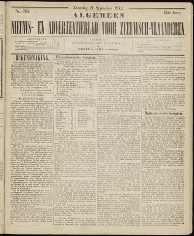 Ter Neuzensche Courant. Algemeen Nieuws- en Advertentieblad voor Zeeuwsch-Vlaanderen / Neuzensche Courant ... (idem) / (Algemeen) nieuws en advertentieblad voor Zeeuwsch-Vlaanderen 1872-09-21