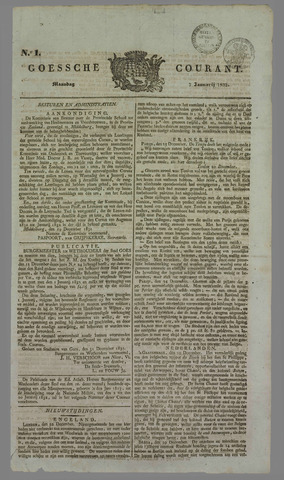 Goessche Courant 1832