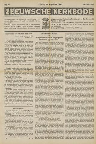 Zeeuwsche kerkbode, weekblad gewijd aan de belangen der gereformeerde kerken/ Zeeuwsch kerkblad 1945-08-10