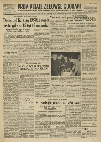 Provinciale Zeeuwse Courant 1951-03-10