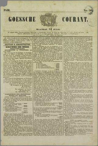 Goessche Courant 1851-07-14