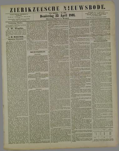 Zierikzeesche Nieuwsbode 1891-04-23