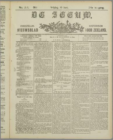 De Zeeuw. Christelijk-historisch nieuwsblad voor Zeeland 1910-06-10