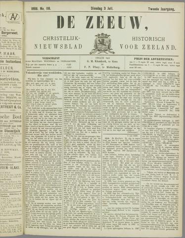 De Zeeuw. Christelijk-historisch nieuwsblad voor Zeeland 1888-07-03