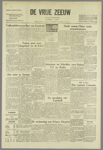 de Vrije Zeeuw 1963-01-21