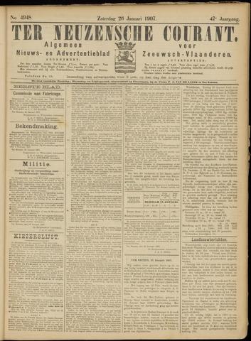 Ter Neuzensche Courant. Algemeen Nieuws- en Advertentieblad voor Zeeuwsch-Vlaanderen / Neuzensche Courant ... (idem) / (Algemeen) nieuws en advertentieblad voor Zeeuwsch-Vlaanderen 1907-01-26