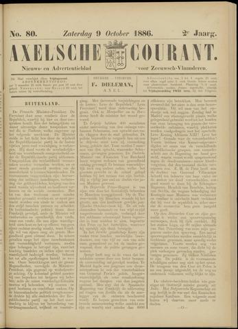 Axelsche Courant 1886-10-09
