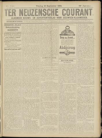 Ter Neuzensche Courant. Algemeen Nieuws- en Advertentieblad voor Zeeuwsch-Vlaanderen / Neuzensche Courant ... (idem) / (Algemeen) nieuws en advertentieblad voor Zeeuwsch-Vlaanderen 1924-09-19
