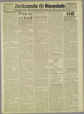 Zierikzeesche Nieuwsbode 1924-02-20