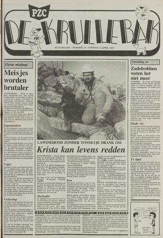 Provinciale Zeeuwse Courant katern Krullenbak (1981-1999) 1987-04-14