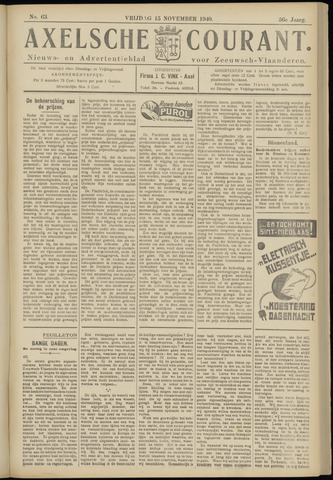 Axelsche Courant 1940-11-15