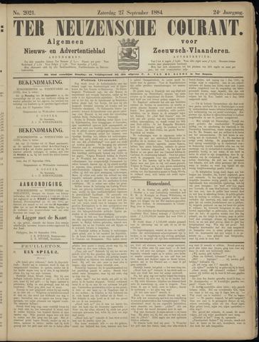 Ter Neuzensche Courant. Algemeen Nieuws- en Advertentieblad voor Zeeuwsch-Vlaanderen / Neuzensche Courant ... (idem) / (Algemeen) nieuws en advertentieblad voor Zeeuwsch-Vlaanderen 1884-09-27