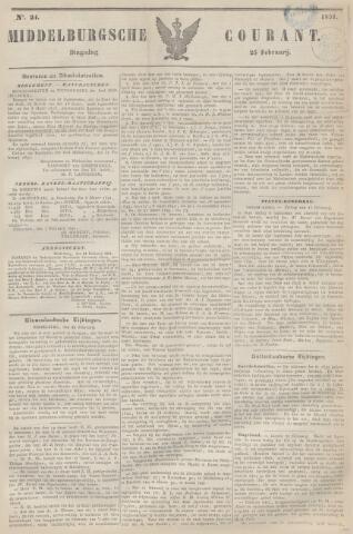 Middelburgsche Courant 1851-02-25