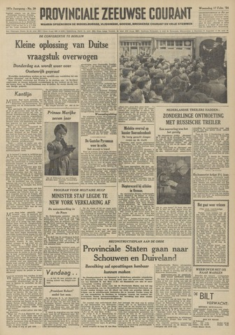 Provinciale Zeeuwse Courant 1954-02-17