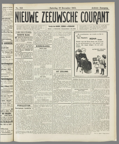 Nieuwe Zeeuwsche Courant 1912-12-28