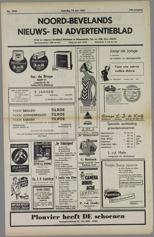 Noord-Bevelands Nieuws- en advertentieblad 1962-05-19