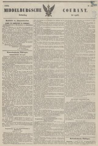 Middelburgsche Courant 1852-04-24