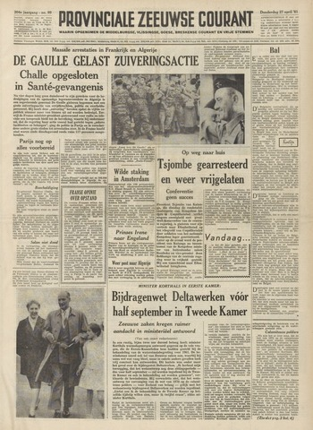 Provinciale Zeeuwse Courant 1961-04-27