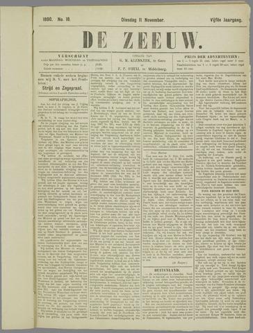 De Zeeuw. Christelijk-historisch nieuwsblad voor Zeeland 1890-11-11