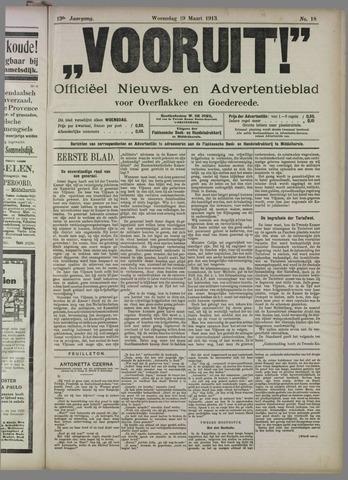 """""""Vooruit!""""Officieel Nieuws- en Advertentieblad voor Overflakkee en Goedereede 1913-03-19"""