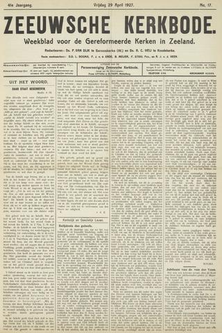 Zeeuwsche kerkbode, weekblad gewijd aan de belangen der gereformeerde kerken/ Zeeuwsch kerkblad 1927-04-29