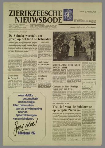 Zierikzeesche Nieuwsbode 1974-09-30