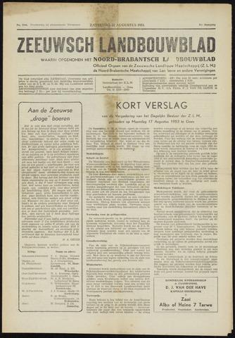 Zeeuwsch landbouwblad ... ZLM land- en tuinbouwblad 1953-08-22