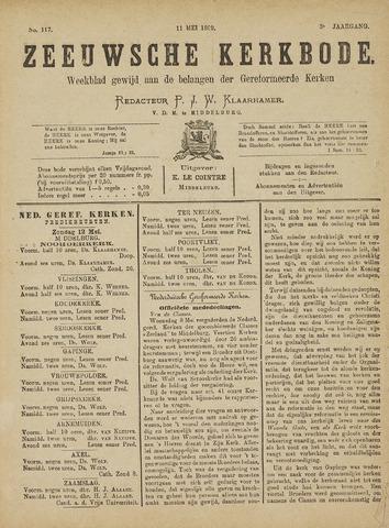 Zeeuwsche kerkbode, weekblad gewijd aan de belangen der gereformeerde kerken/ Zeeuwsch kerkblad 1889-05-11