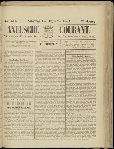 Axelsche Courant 1891-08-15