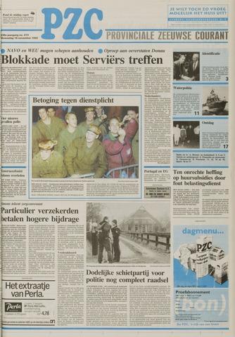 Provinciale Zeeuwse Courant 1992-11-18
